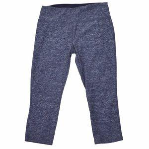 VOGO Marled Blue Capri Leggings, Size XL
